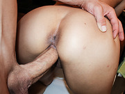 Penny sucked the jizz from Bruce large rod