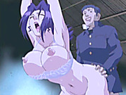 Bondage Japanese hentai babe gets her ass filled up by her brother