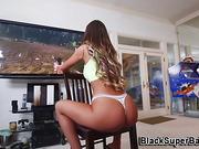 Babe slammed by big cock