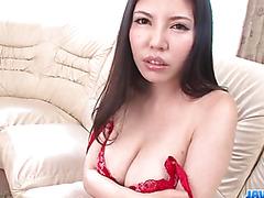 Perfect toy solo along brunette milf, Sofia Takigawa