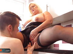Agedlove granny chubby banged young man