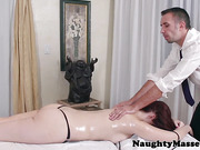 Busty redhead massage amateur assfucked