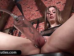 Sexy lesbians dildo pussies hard
