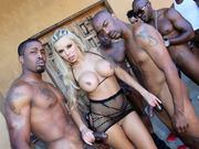 Nina Elle gets gangbanged by black guys