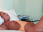 Ex-GF tied to the bed and fucked hardcore