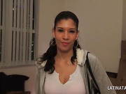 Latina girlfriend sucking her lovers hard dick in POV