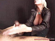 Cock gets hand controlled