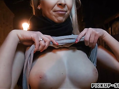 Busty Czech babe fucked and creampied then gets payed