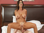 Tara Holiday rides Danny Ds cock on top while her tits bounce