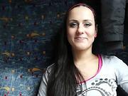 Cutie blows dick in a train compartment