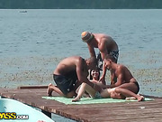group sex on the dock in front of everybody