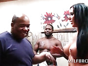 Wet MILF gets black deep throated and licked