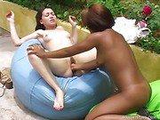 Interracial Lesbians Love Fisting