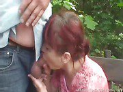 Redhead Granny Wanesa Pumped In Her Sweet Tight Pussy