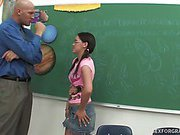 Kandi Bounces On Her Teacher's Hard Cock