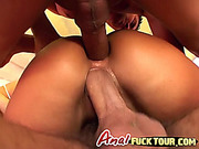 Let's start an anal gangbang with hot chicks, please! Must see this video!