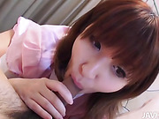 Teen honey Yuki Minami  has her tight pink pussy stuffed full of thick beefy dick