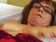 Nerdy Mature Lady Takes A Hard Cock!