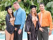 Laylas Dad Fucking Nicole Hard, Gave Her Mind Blowing Orgasm