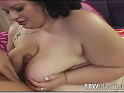 BBW Brunette Gives A Hell Of A Blowjob