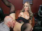 Johnny Sins eat and licks Nicole Anistons boss pussy