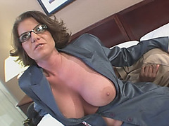 Busty MILF gets fucked by a big black dick