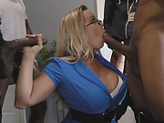 Stunning MILF with big tits gets penetrated