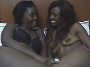 Horny African Lesbians Lick Each Others Pussy