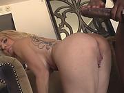 Stepmom teaches daughter to fuck black cock