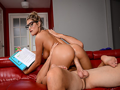 August Ames pussy fuck by Sean Lawless doggy