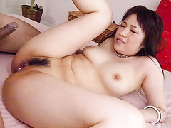Busty, Yuri Sato, craves for cock in her tight vag