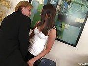Brunette Secretary Sucking for a Promotion