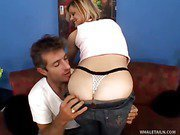 Horny Thong Wearing Babe Fucked