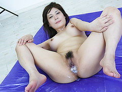 Lovely threesome action along kinky Karen Natsuhara