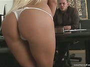Sexy mature blonde pornstar Krissy Style anal and facial