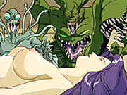 Busty hentai brutally monsters fucking