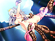 Cute 3d hentai Princess caught and brutally fucked by tentacles