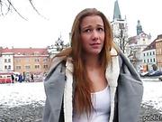 Eurobabe Dominika stuffed for some money