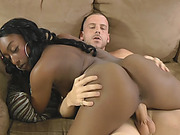 Black Beauty Riding Her White Producers Fat Cock