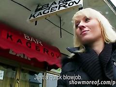 Czech slut Laura ripped hard for money