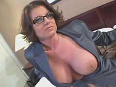 Kayla Quinn Blowjob Interracial Brunette Big Tits