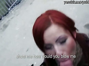 Redhead girl Belinda ass ripped for cash
