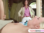 Yummy MILF Syren Demer joins teen couple