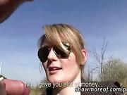 Eurobabe Meggie paid for public fucking