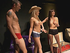 Swinger reality foursome fingering pussy big tits