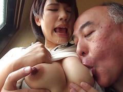 Club Girl Tongue Kiss Saliva Covered HakuSakiAoi