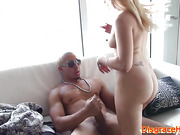 Facialized amateur humiliated and banged