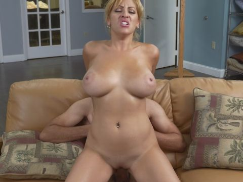 Big tit blonde milf maid