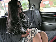 Hot amateur lady busted and gets fucked in taxi