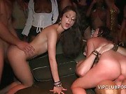 VIP party sluts get cunts and mouths fucked hardcore